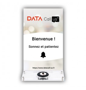 Support Desk 02 pour bouton d'appel Data Call Us, solution d'appel sans fil pour professionnels